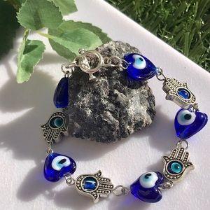 Hamsa Evil Eye Toggle Bracelet Jewelry